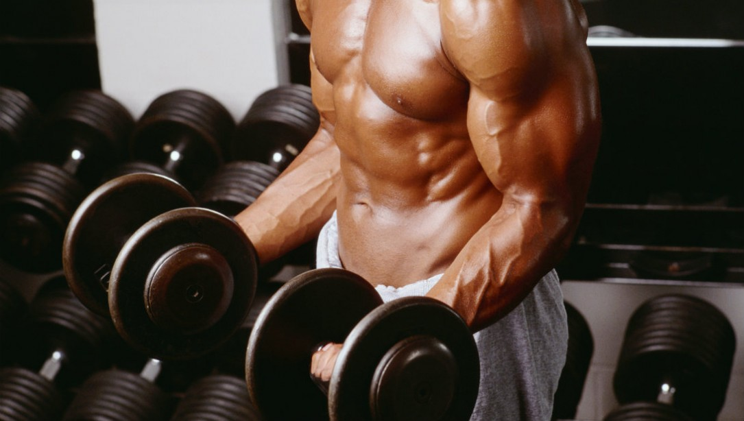 Get a BIG Biceps Pump at Home with 2 Moves Using Light Dumbbells